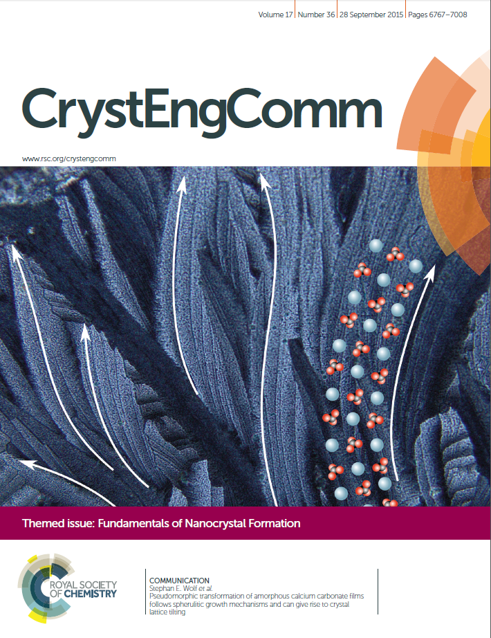 "Towards entry ""WW3 Research on Crystal Lattice Tilting featured on CrystEngComm Cover"""